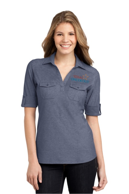 Texas Oncology Double Pocket Polo L557